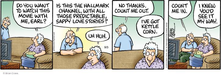 Comic Strip Brian Crane  Pickles 2016-09-03 fall in love
