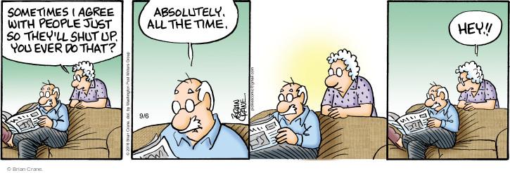 Comic Strip Brian Crane  Pickles 2016-09-06 motive