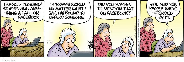 Comic Strip Brian Crane  Pickles 2016-09-20 post