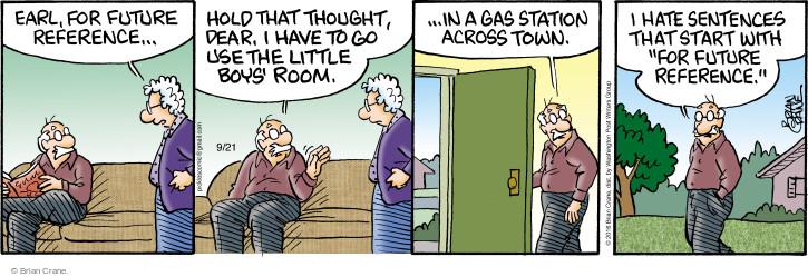 Comic Strip Brian Crane  Pickles 2016-09-21 town