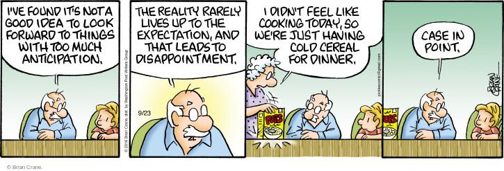 Comic Strip Brian Crane  Pickles 2016-09-23 reality