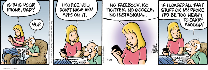 Comic Strip Brian Crane  Pickles 2016-10-01 social