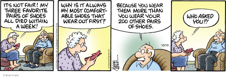 Comic Strip Brian Crane  Pickles 2016-10-10 shoe
