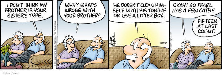 Comic Strip Brian Crane  Pickles 2016-10-22 grooming