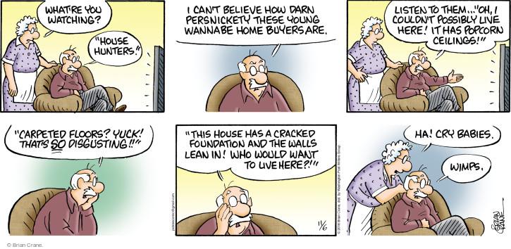 Cartoonist Brian Crane  Pickles 2016-11-06 yuck