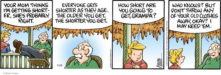 Comic Strip Brian Crane  Pickles 2016-11-04 grandson