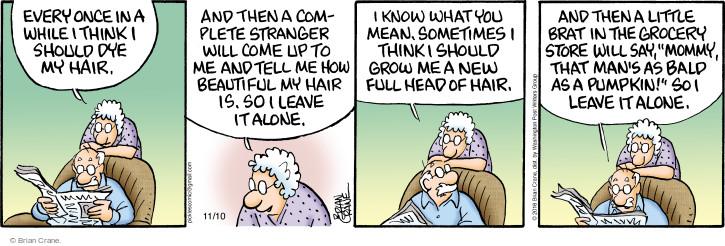 Comic Strip Brian Crane  Pickles 2016-11-10 stranger