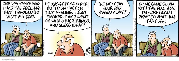 Comic Strip Brian Crane  Pickles 2016-11-12 one