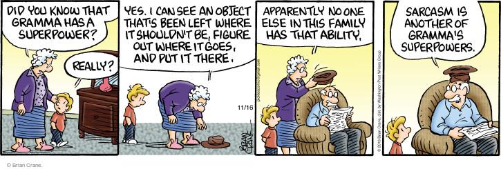 Comic Strip Brian Crane  Pickles 2016-11-16 super