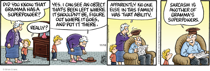 Comic Strip Brian Crane  Pickles 2016-11-16 ability