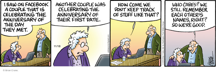 Comic Strip Brian Crane  Pickles 2016-11-18 first husband