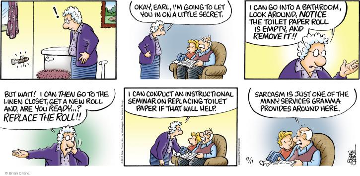 Comic Strip Brian Crane  Pickles 2016-12-11 secret