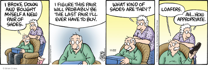 Comic Strip Brian Crane  Pickles 2016-11-22 shoe