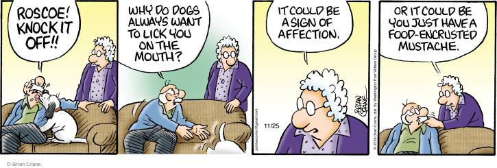 Comic Strip Brian Crane  Pickles 2016-11-25 affection