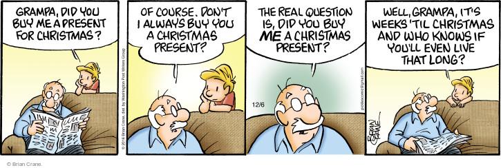 Comic Strip Brian Crane  Pickles 2016-12-06 Christmas gift