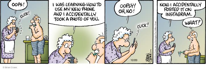 Cartoonist Brian Crane  Pickles 2016-12-20 online photograph