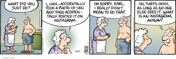 Cartoonist Brian Crane  Pickles 2016-12-21 online photograph