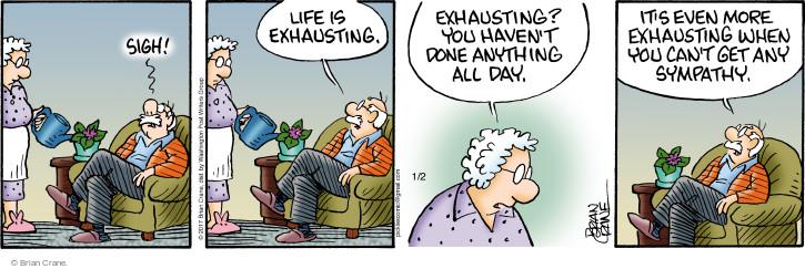 Comic Strip Brian Crane  Pickles 2017-01-02 laziness