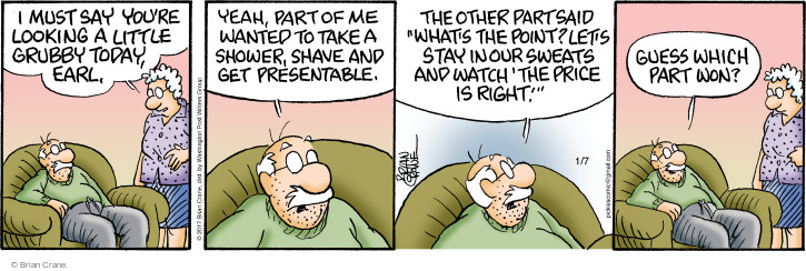 Comic Strip Brian Crane  Pickles 2017-01-07 stay