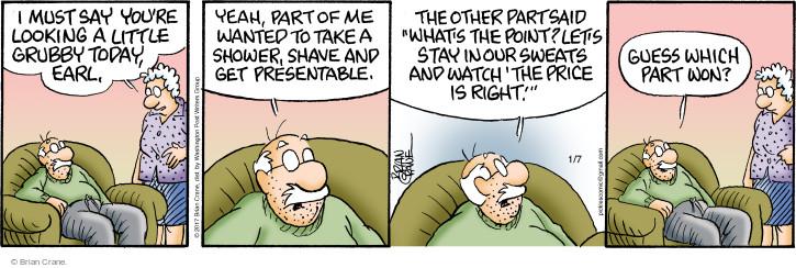 Comic Strip Brian Crane  Pickles 2017-01-07 hygiene