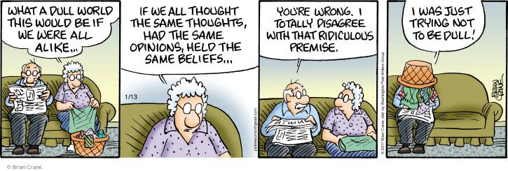 Comic Strip Brian Crane  Pickles 2017-01-13 boredom