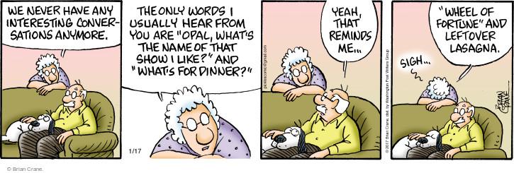 Comic Strip Brian Crane  Pickles 2017-01-17 remind