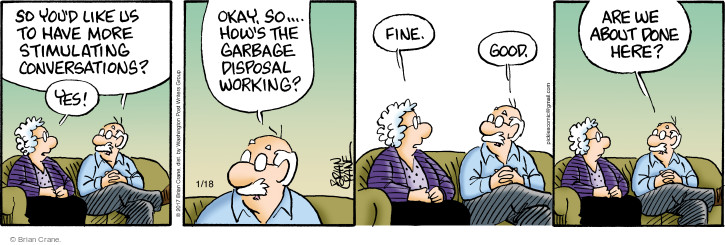 Comic Strip Brian Crane  Pickles 2017-01-18 communication