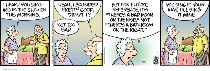 Comic Strip Brian Crane  Pickles 2017-01-23 bad