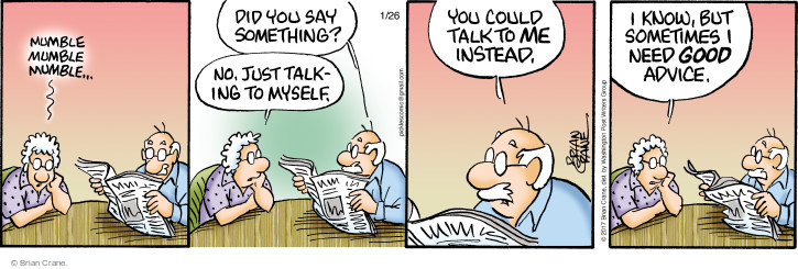 Comic Strip Brian Crane  Pickles 2017-01-26 communication