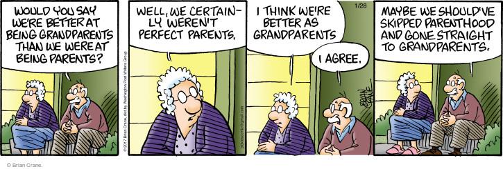 Cartoonist Brian Crane  Pickles 2017-01-28 family