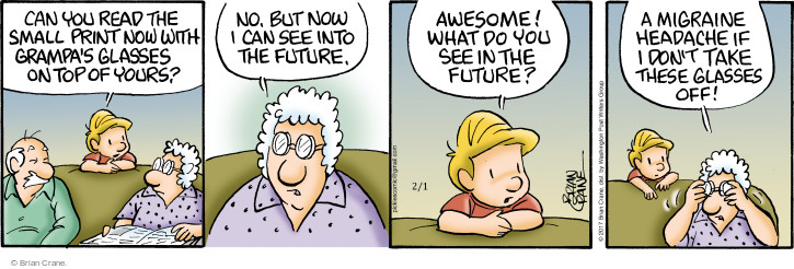 Comic Strip Brian Crane  Pickles 2017-02-01 eyesight