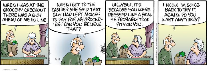 Comic Strip Brian Crane  Pickles 2017-02-11 back when