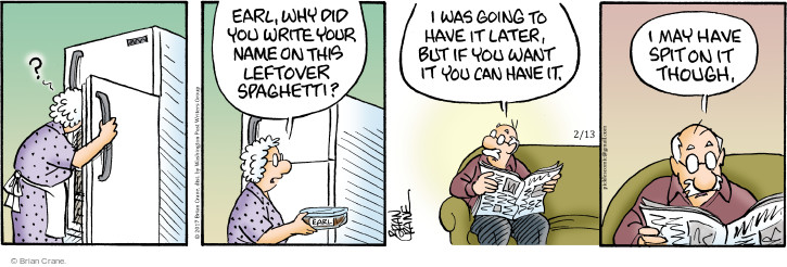 Comic Strip Brian Crane  Pickles 2017-02-13 writing
