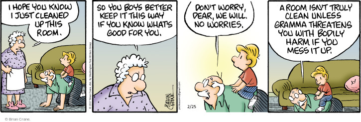 Comic Strip Brian Crane  Pickles 2017-02-25 grandmother