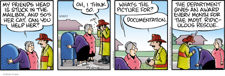 Comic Strip Brian Crane  Pickles 2017-03-10 month