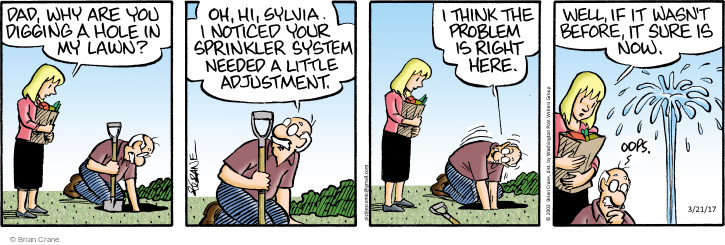 Comic Strip Brian Crane  Pickles 2017-03-21 lawn