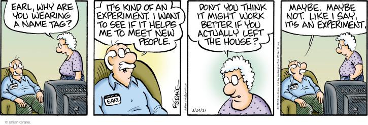 Comic Strip Brian Crane  Pickles 2017-03-24 Earl