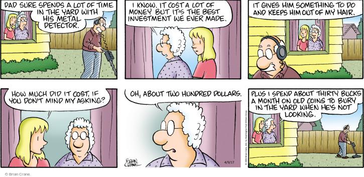 Comic Strip Brian Crane  Pickles 2017-04-09 $2.00