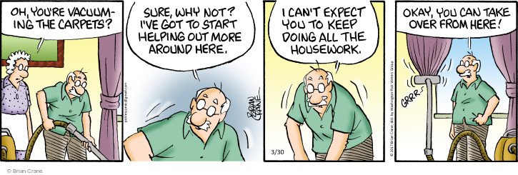 Comic Strip Brian Crane  Pickles 2017-03-30 housekeeping