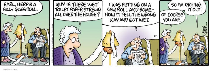 Comic Strip Brian Crane  Pickles 2017-04-03 somehow