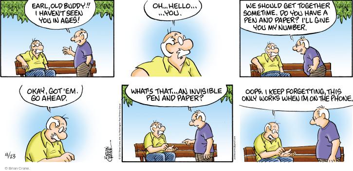 Comic Strip Brian Crane  Pickles 2017-04-23 phone number
