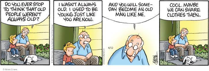 Comic Strip Brian Crane  Pickles 2017-04-12 young