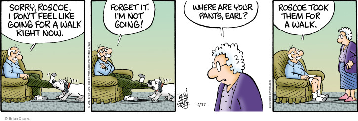Comic Strip Brian Crane  Pickles 2017-04-17 trousers