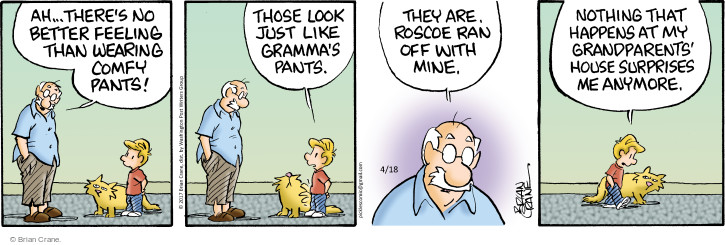 Comic Strip Brian Crane  Pickles 2017-04-18 comfortable clothes