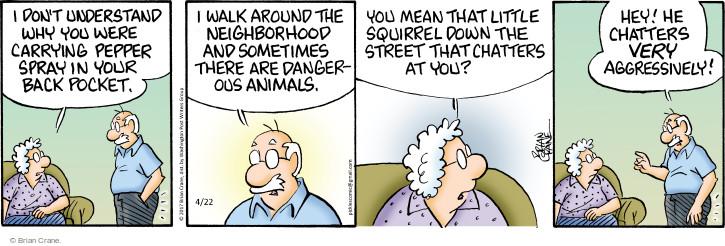 Comic Strip Brian Crane  Pickles 2017-04-22 pepper spray