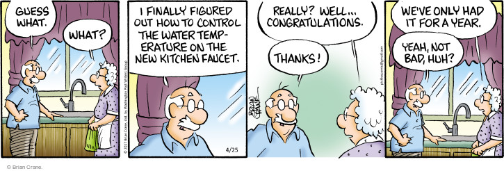 Comic Strip Brian Crane  Pickles 2017-04-25 water temperature