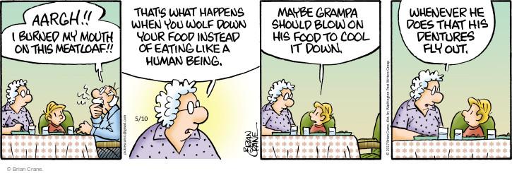 Cartoonist Brian Crane  Pickles 2017-05-10 meatloaf