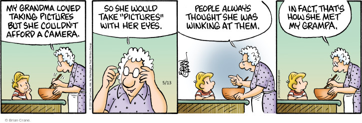 Comic Strip Brian Crane  Pickles 2017-05-13 grandmother