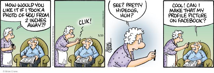 Cartoonist Brian Crane  Pickles 2017-05-20 photo