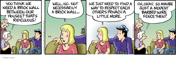 Comic Strip Brian Crane  Pickles 2017-06-06 respectful